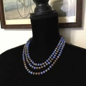 Jewelry - Beautiful glass beads. Blue with touches of cooper
